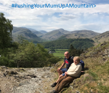 Pushing your mum up a mountain
